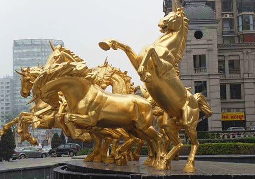 大理水泥雕塑马